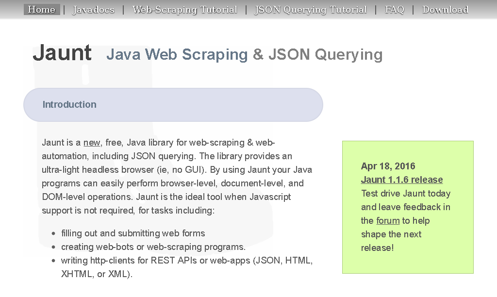 Web Scraping: Jaunt vs Jsoup - Patrick Meier - Entrepreneur