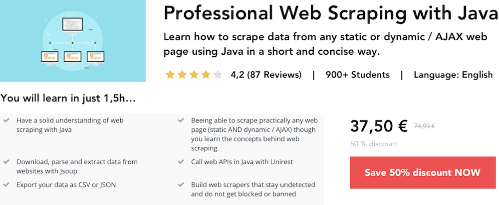 Web scraping with Java: Top 10 Google search results